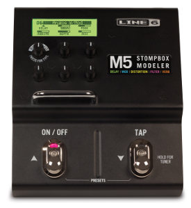 The Line 6 M5.  Any pedal you want, one at a time.  I love the simplicity of this one.